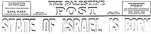 Gründung des Staates Israel