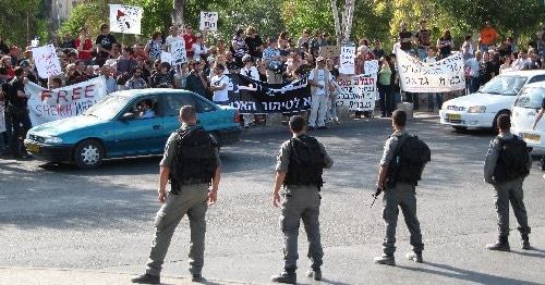 Demonstration gegen Siedler in Sheik Jarrah
