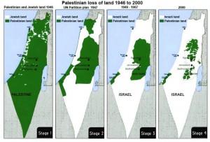 Palästina Landverteilung 1946-2000