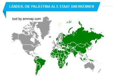 Staaten die Palästina anerkennen