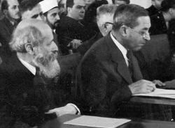 Martin Buber, Judah Magnes (rechts) 1946
