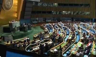 Netanjahu: feurige Rede vor halb leerer UN