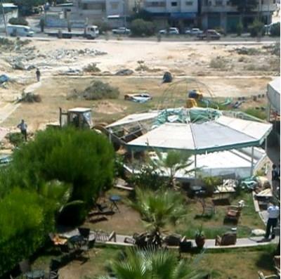 Zerstörung Etehad Kulturzentrum Gaza