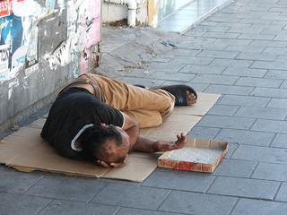 Obdachloser in Israel