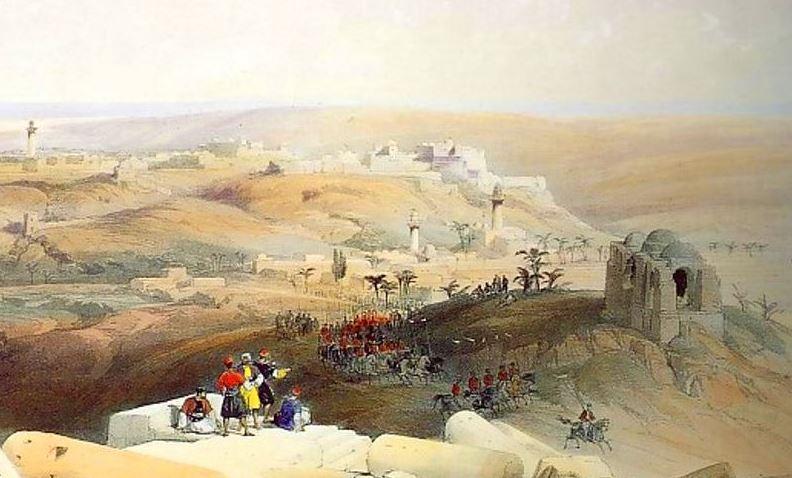 osmanische Patrouille vor Gaza 1830