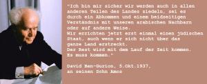 Zitat David Ben Gurion Siedlungen