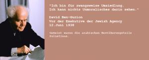 Ben-Gurion zur Vertreibung der Palästinenser