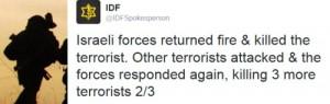 Israelische Armee tötet Terroristen