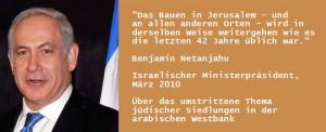 Zitat Netanjahu Siedlungen Westbank