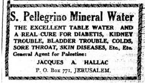 Werbung für San Pellegrino Wasser