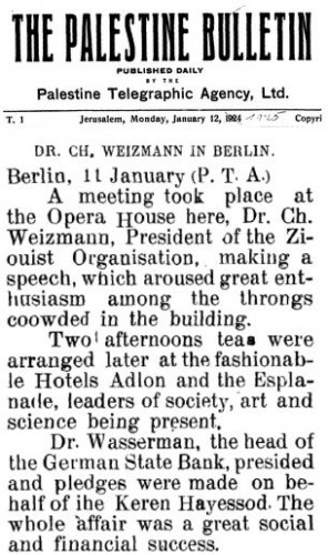 Dr. Weizmann in Berlin