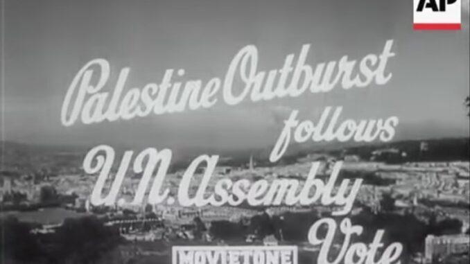 Abstimmung über den Teilungsplan Palästina