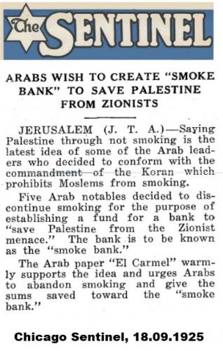 Rauchverbot gegen Zionismus