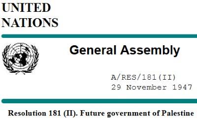UN Resolution 181