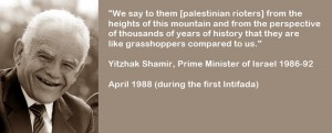 Jitzhak Schamir über Palästinenser