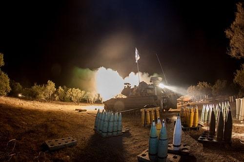 Israelische Artillerie beschießt Gaza