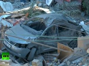 Gaza Luftangriff Autowrack