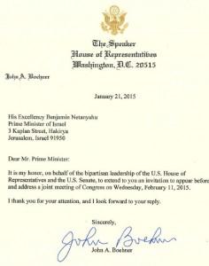 Einladung Boehners an Netanjahu