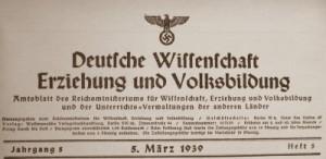 NS Amtsblatt Deutsche Wissenschaft Erziehung