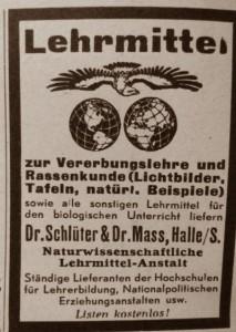 Werbung Schulmaterial NS Amtsblatt