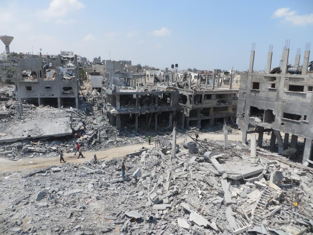 Gaza nach israelischem Bombardement 2014
