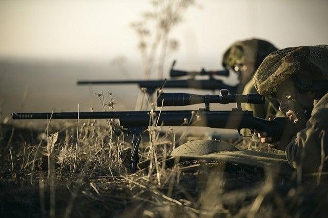 Scharfschuetzen der israelischen Armee