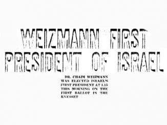 Chaim Weizmann 1. Präsident Israels