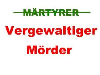 Mord ist kein Märtyrertum