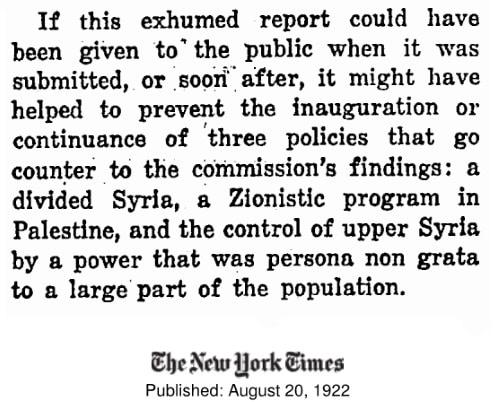 NYT über den Crane-King-Report