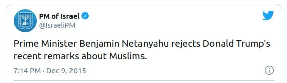 Netanjahu kritisiert Trump