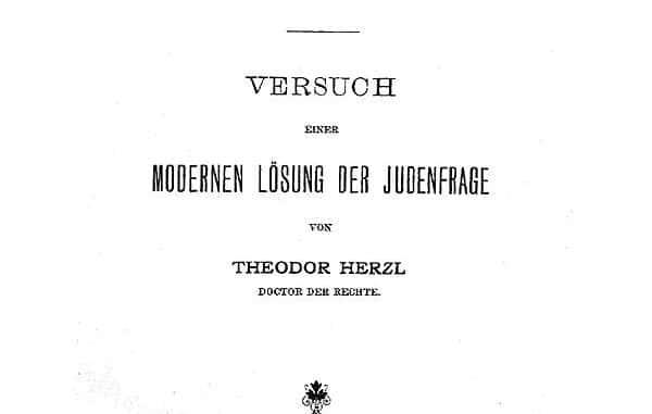 Theodor Herzl Judenstaat
